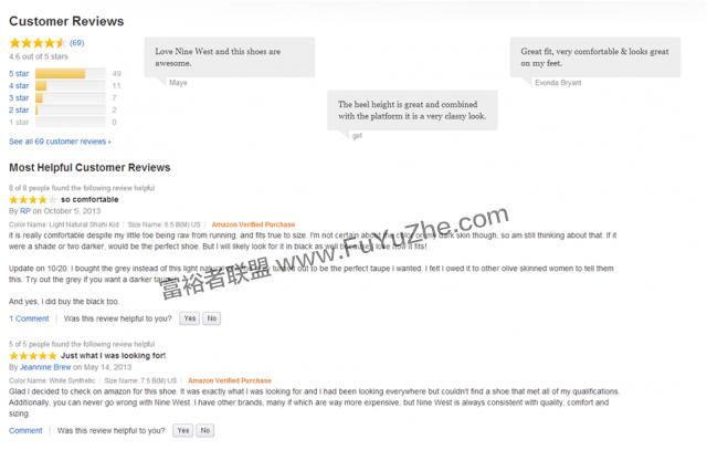 亚马逊客户的评论