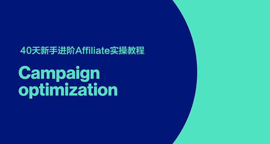 [第10天]40天新手进阶Affiliate实操教程:当Campaign表现不佳时