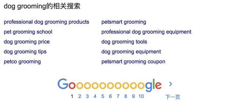 Google的相关搜索