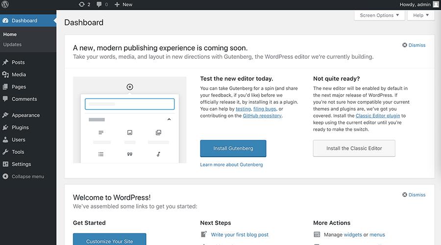 一步一步完成Wordpress安装配置